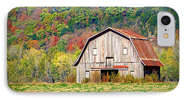 Riverbottom Barn In Fall Phone Case by Cricket Hackmann