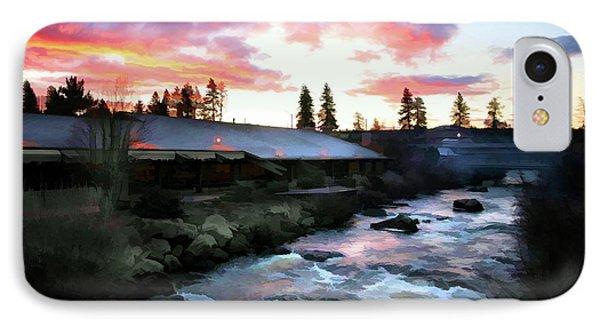 Riverhouse Deschutes Paint  IPhone Case by Chuck Kuhn