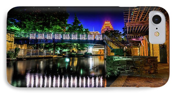 Riverwalk Bridge IPhone Case by Mark Dunton