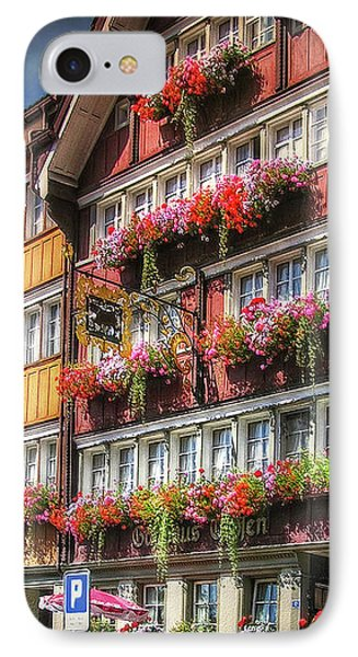 IPhone Case featuring the photograph Row Of Swiss Houses by Hanny Heim