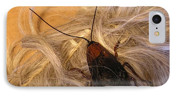 Roach Hair Clip IPhone Case by Roger Swezey