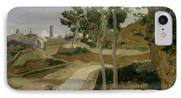 Road From Volterra IPhone Case by Jean Baptiste Camille Corot
