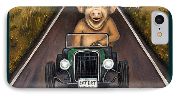 Road Hog With Lettering IPhone Case by Leah Saulnier The Painting Maniac