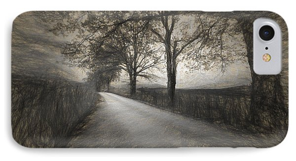 Road Not Traveled Iv IPhone Case by Jon Glaser