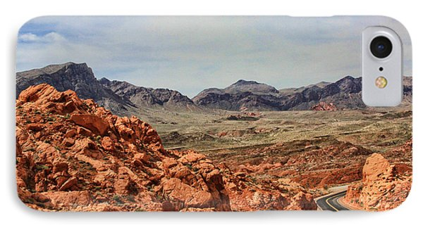 IPhone Case featuring the photograph Road To Fire by Tammy Espino