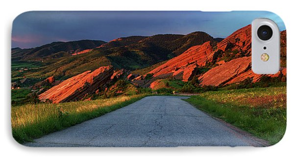 IPhone Case featuring the photograph Road To Light by John De Bord