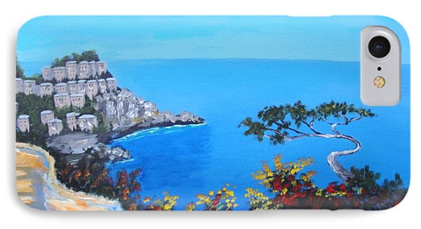 IPhone Case featuring the painting Road To Monaco by Larry Cirigliano