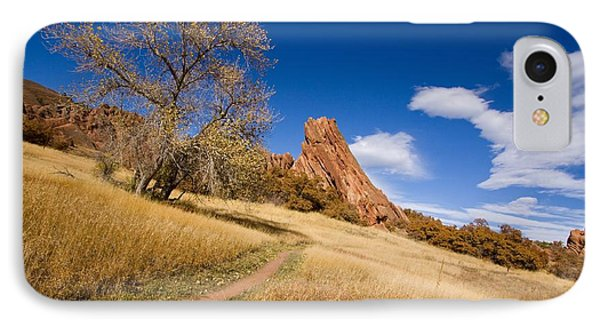 Road To The Rocky Blue IPhone Case by Andrew Serff