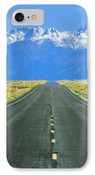 Road To The Sangre De Cristo Mountains IPhone Case by Aaron Spong