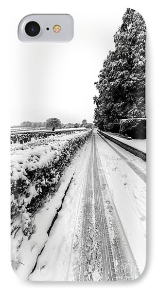 Road To Winter IPhone Case by Adrian Evans