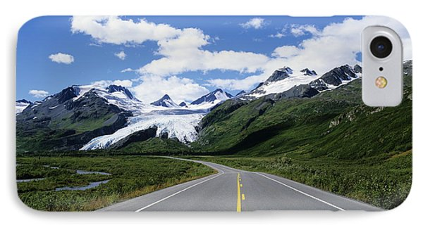 Road To Worthington Glacier IPhone Case by Bill Bachmann - Printscapes