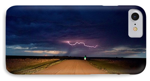 Road Under The Storm IPhone Case by Ed Sweeney