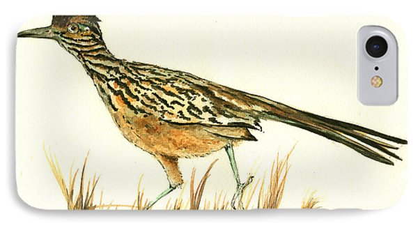 Roadrunner Bird IPhone Case by Juan Bosco