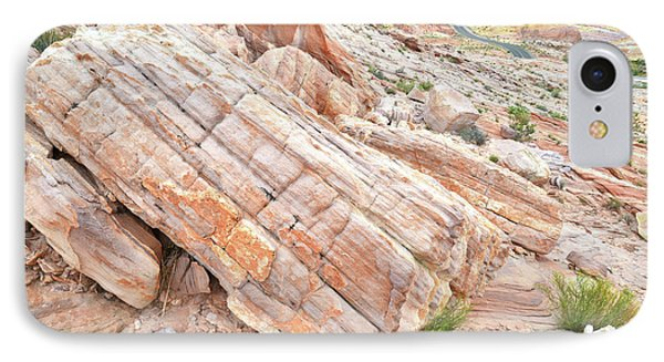 IPhone Case featuring the photograph Roadside Sandstone In Valley Of Fire by Ray Mathis
