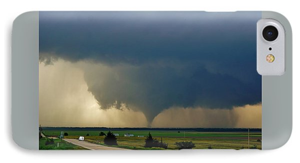 IPhone Case featuring the photograph Roadside Twister by Ed Sweeney