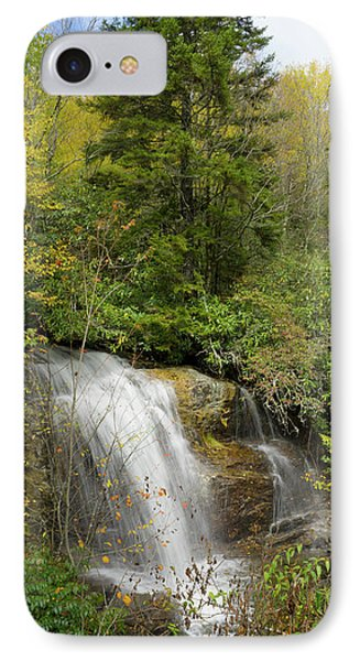 Roadside Waterfall In North Carolina IPhone Case by Mike McGlothlen