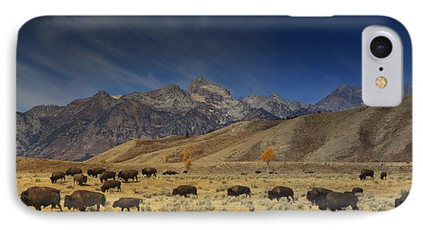 Roaming Bison IPhone Case by Mark Kiver