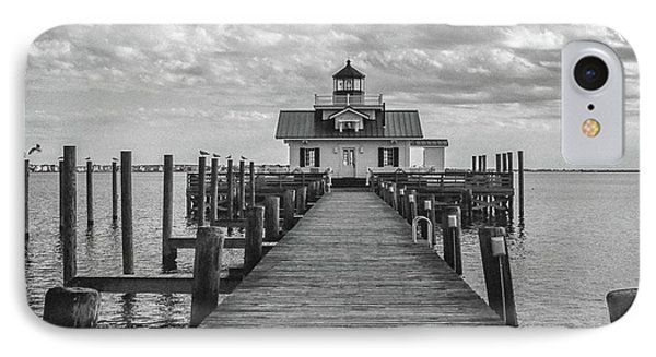 IPhone Case featuring the photograph Roanoke Marshes Light by David Sutton