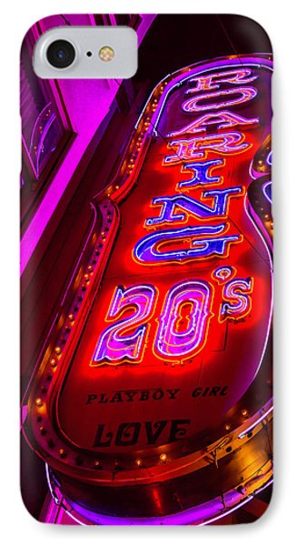 Roaring 20's Neon IPhone Case by Garry Gay