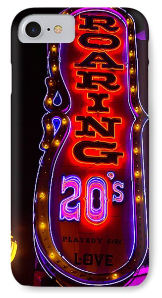 Roaring 20's Neon Sign IPhone Case by Garry Gay