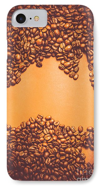 Roasted Australian Coffee Beans Background IPhone Case by Jorgo Photography - Wall Art Gallery
