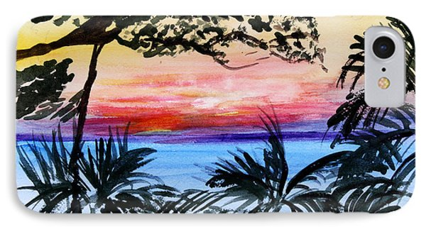 Roatan Sunset IPhone Case by Donna Walsh