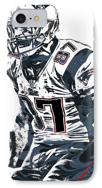Rob Gronkowski New England Patriots Pixel Art 4 IPhone Case by Joe Hamilton
