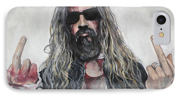 Rob Zombie IPhone Case by Tom Carlton