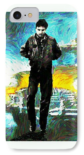 Robert De Niro In Taxi Driver Poster Two IPhone Case by John Malone
