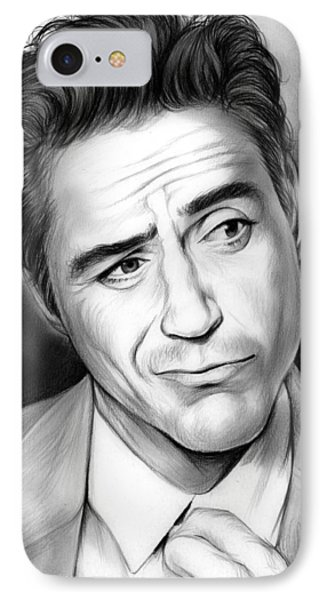 Robert Downey Jr IPhone Case by Greg Joens