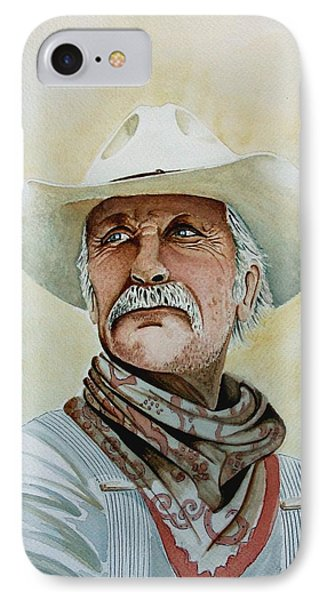Robert Duvall As Augustus Mccrae In Lonesome Dove IPhone Case by Jimmy Smith