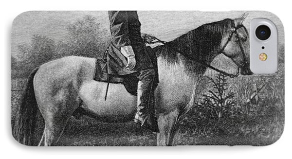Robert E Lee On His Horse Traveler IPhone Case by American School