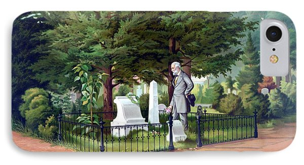 Robert E. Lee Visits Stonewall Jackson's Grave Phone Case by War Is Hell Store