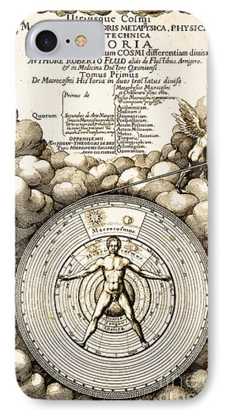 Robert Fludds Book On Metaphysics, 1617 IPhone Case by Science Source