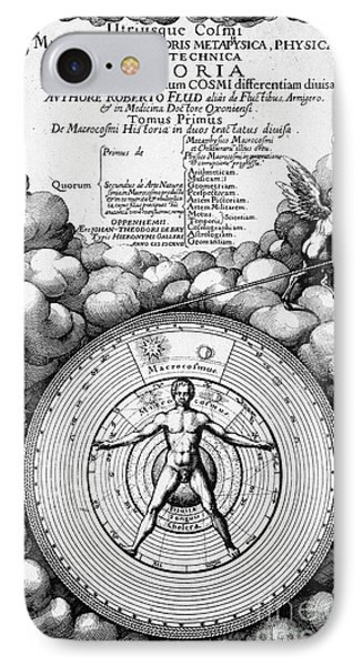 Robert Fludds Book On Metaphysics, 1617 IPhone Case by Wellcome Images