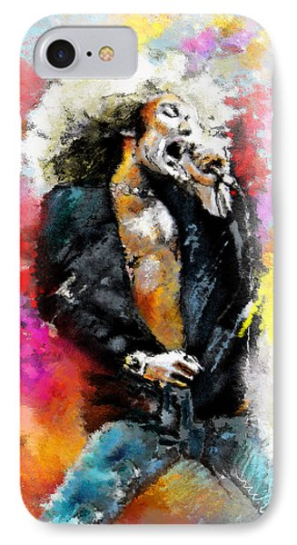Robert Plant 03 IPhone Case by Miki De Goodaboom