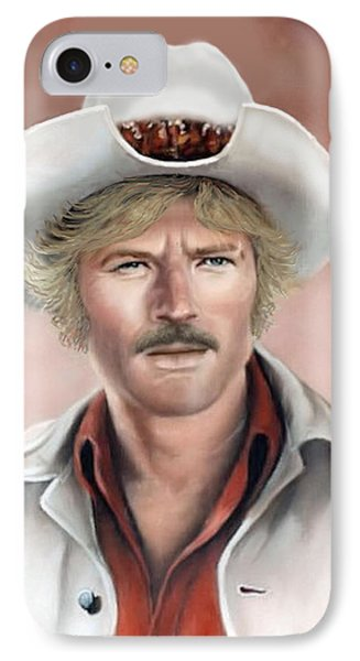 IPhone Case featuring the painting Robert Redford by Loxi Sibley