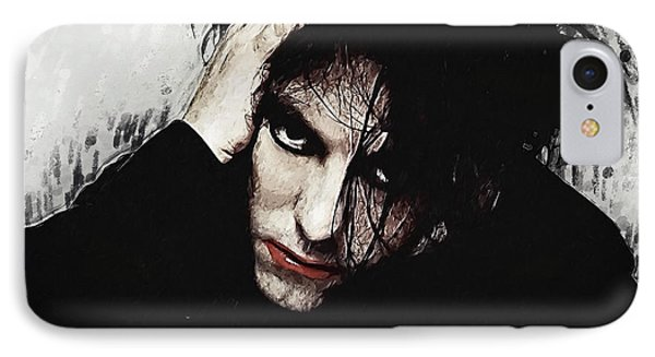 Robert Smith - The Cure  IPhone Case by Taylan Apukovska
