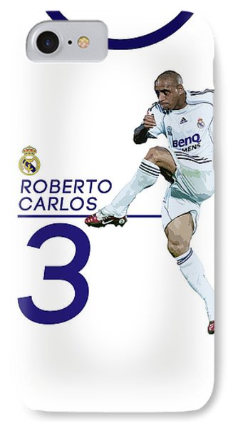 Roberto Carlos IPhone Case by Semih Yurdabak