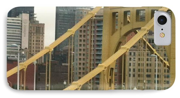 Roberto Clemente Bridge IPhone Case by Deb Sagan