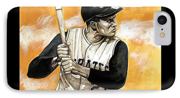Roberto Clemente Phone Case by Dave Olsen