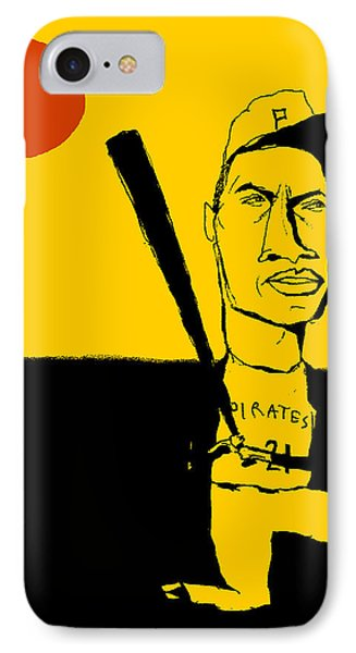 Roberto Clemente Pittsburgh Pirates Phone Case by Jay Perkins
