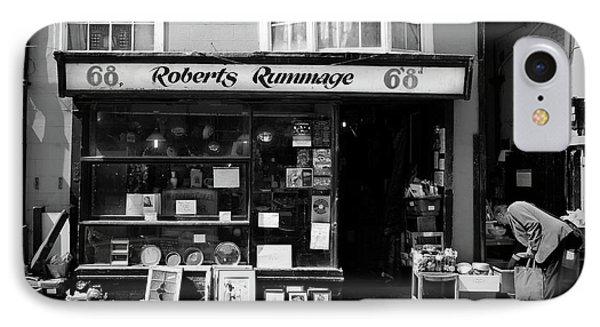 Roberts Rummage IPhone Case by Mark Rogan