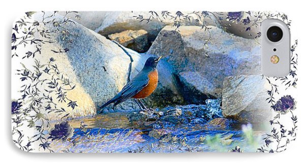 IPhone Case featuring the photograph Robin by Athala Carole Bruckner