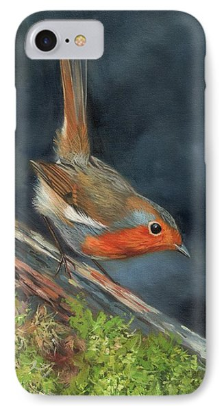 Robin IPhone Case by David Stribbling