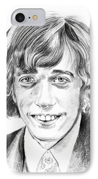 Robin iPhone 7 Case - Robin Gibb Drawing by Suzann's Art