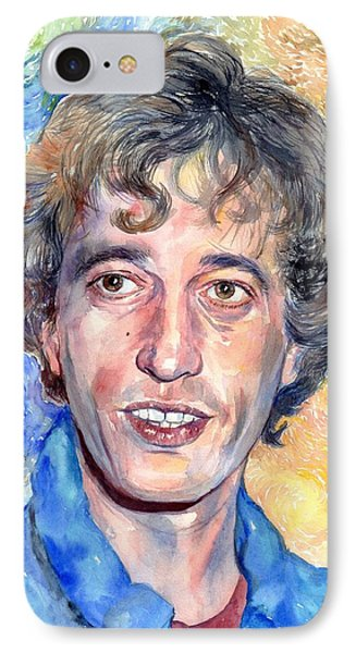 Robin iPhone 7 Case - Robin Gibb Portrait by Suzann's Art