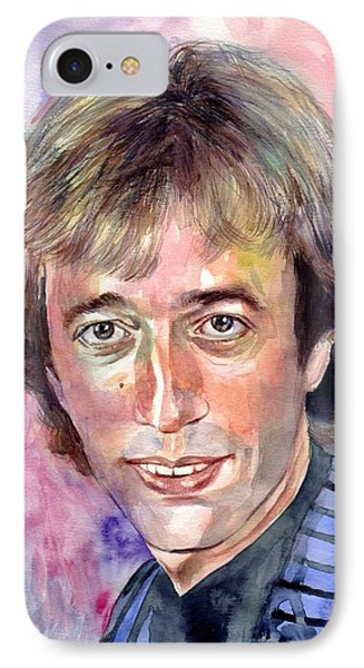 Robin iPhone 7 Case - Robin Gibb Portrait Watercolor by Suzann's Art