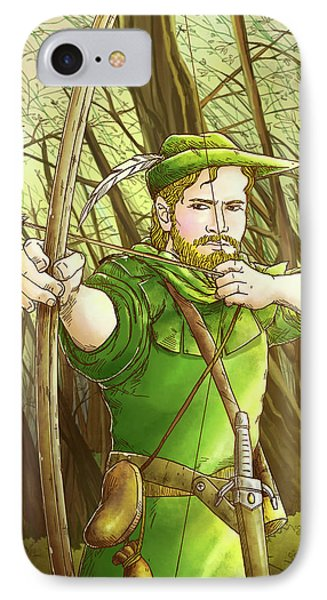 Robin  Hood In Sherwood Forest IPhone Case