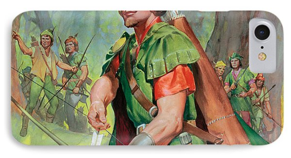 Robin iPhone 7 Case - Robin Hood by James Edwin McConnell